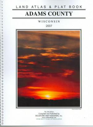 Adams County Wisconsin real estate plat book for sale