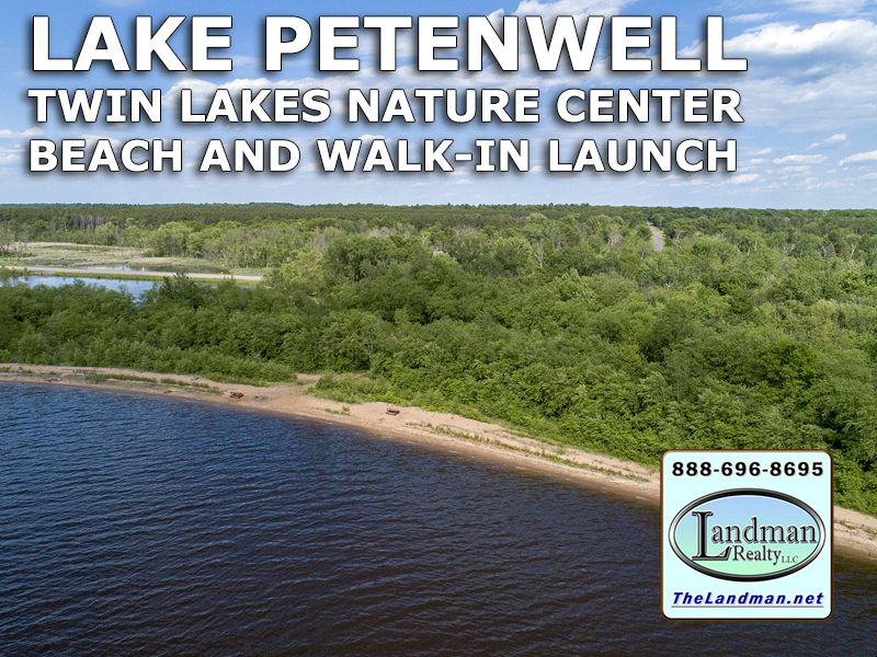 Twin Lakes Nature Center Beach & Walk-in Launch on Lake Petenwell