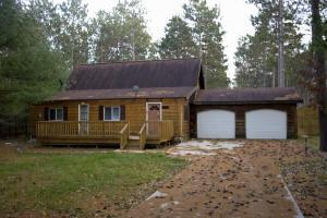 log cabin for sale by big Roche-A-Cri Lake