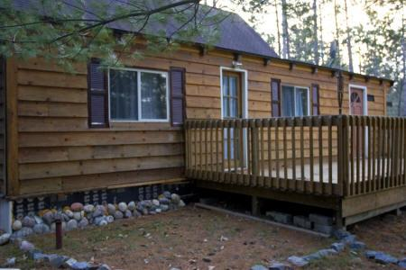 Central Wisconsin Log Cabin for Sale in the Adams County