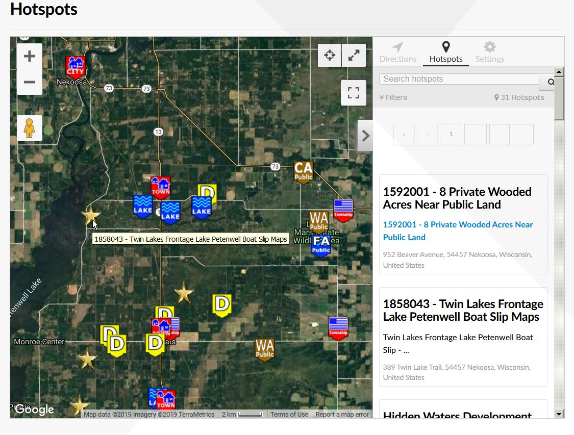 Hotspot Map Twin Lakes Lot