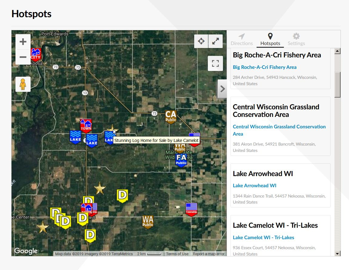Hotspots Map Log Home Rome Township