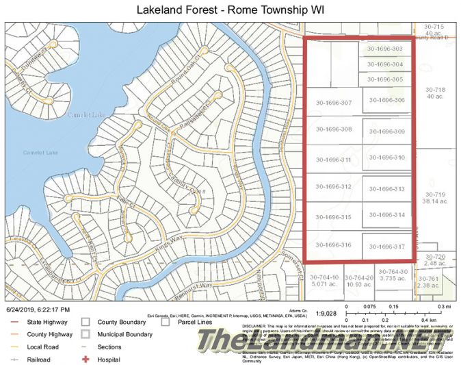 Lakeland Forest Development Rome Township WI