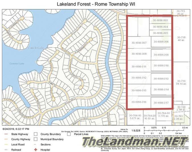 Lakeland Forest Development Rome Township WI
