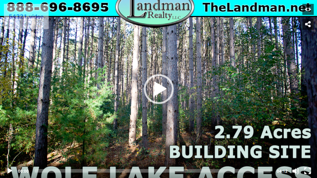 Lot 31 Wolf Lake Deeded Access Lot for Sale Video