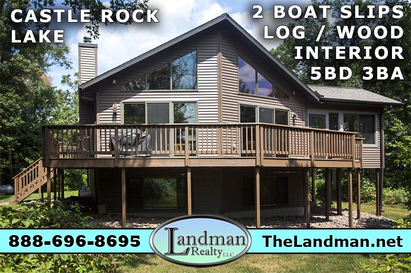 Custom Home for Sale with 2 Boat Slips on Castle Rock Lake VIDEO