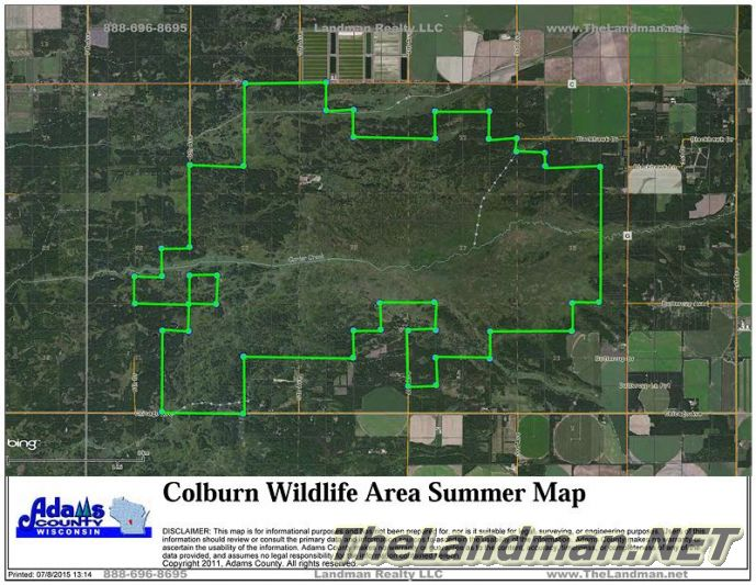 Colburn Wildlife Area Map