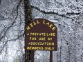 Hill Lake Sign - PRIVATE LAKE