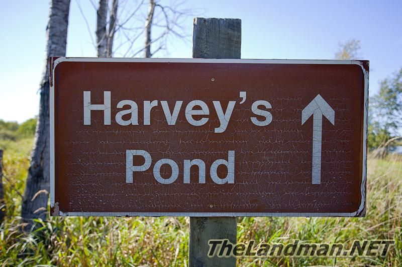 Harvey's Pond Sign