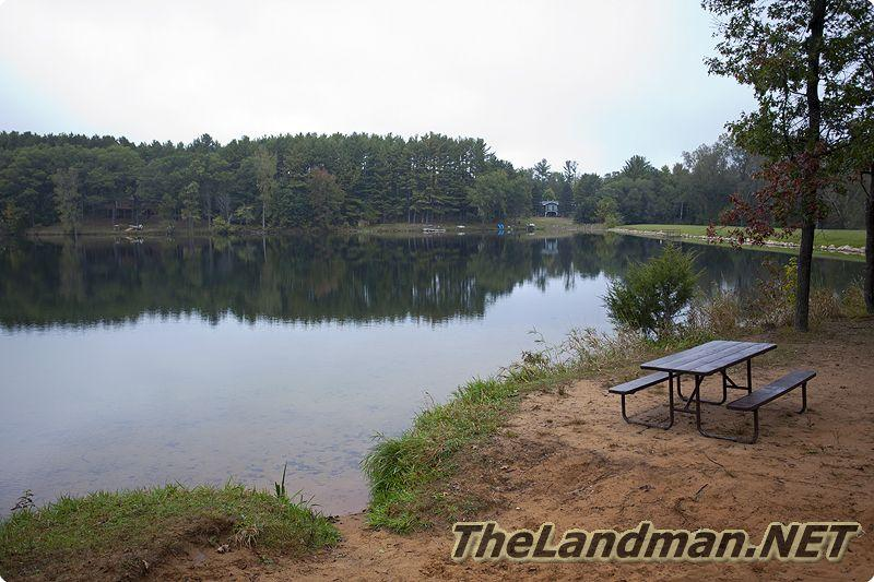 Alpine Lake located in Marion Township of Waushara County, Central Wisconsin