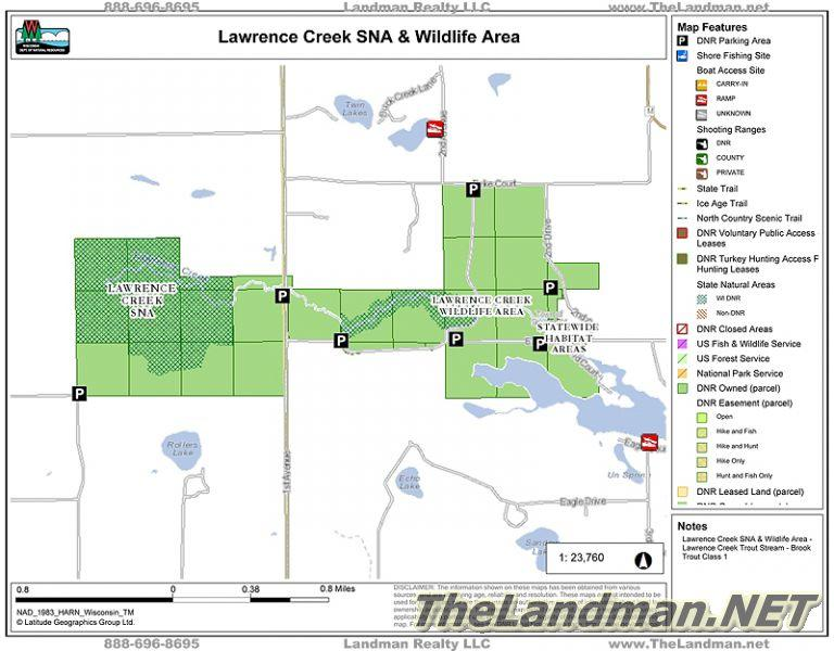 Lawrence Creek State Natural Area Sna Wi Public Land