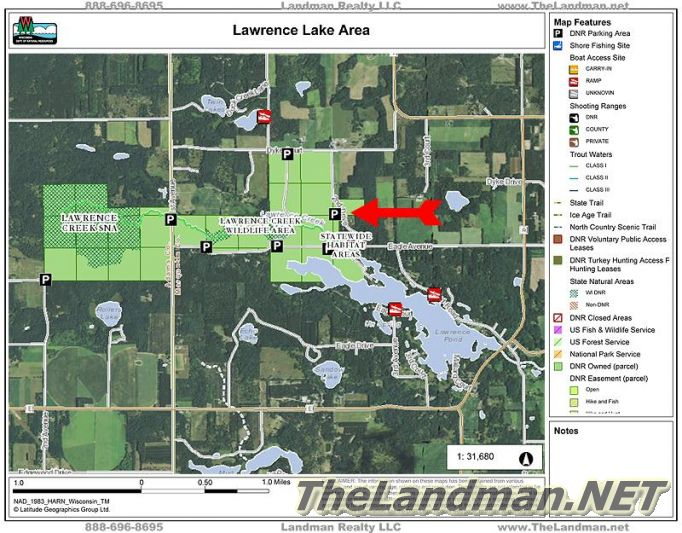Lawrence Lake Area 2nd Dr Map