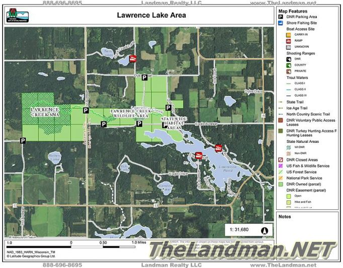 Lawrence Lake Area Map