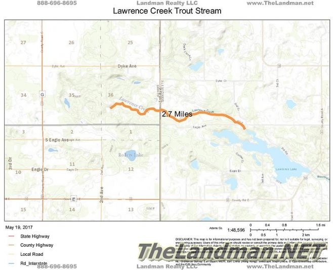 Lawrence Creek Trout Stream Map
