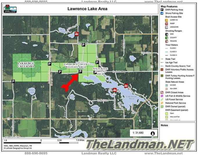 Lawrence Lake Area Eagle Ave Wetlands Map