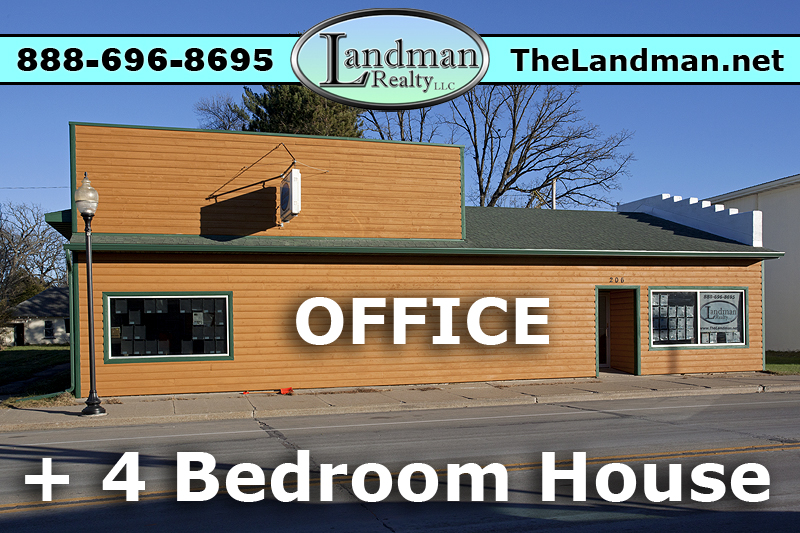 Office for Sale with 4 Bedroom House - 3 Baths Total