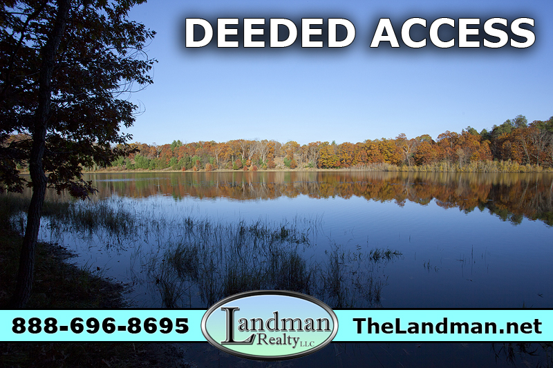 Marquette County WI Deeded Access Lake Lot for Sale 2 acres