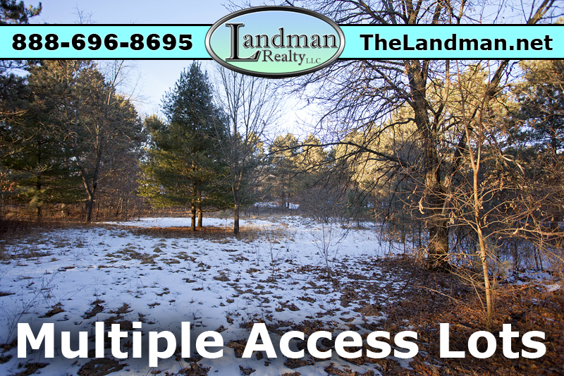 Multiple Access Lots at McGinnis Lake
