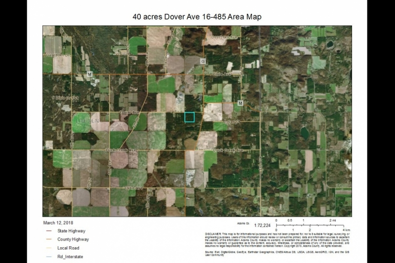 40 Acres Dover Ave 16-485 AREA map
