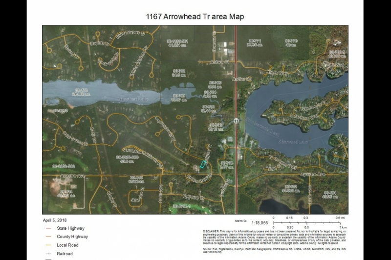 1167 Arrowhead Tr Area Map