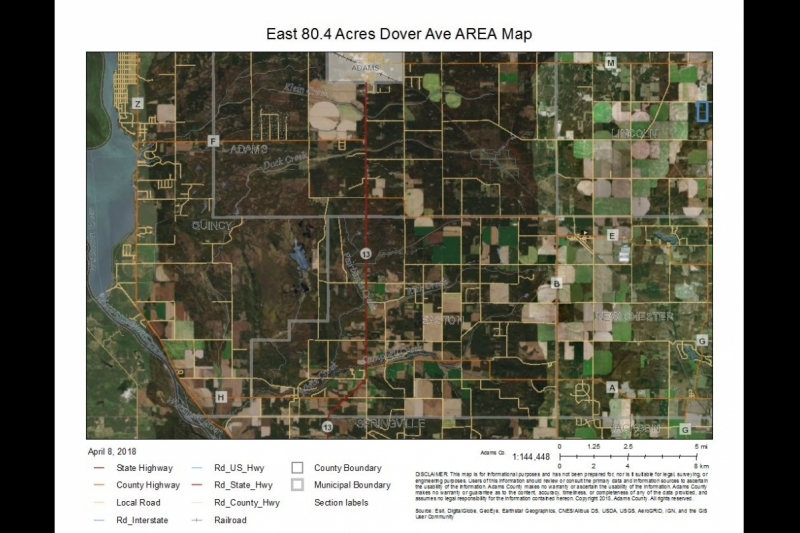 East 80.4 Acres AREA Map