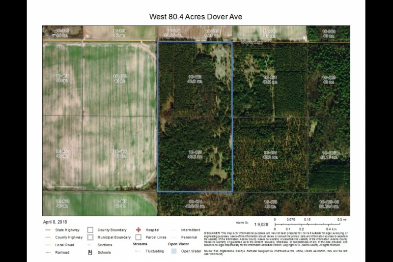 West 80.4 Acres Aerial Map