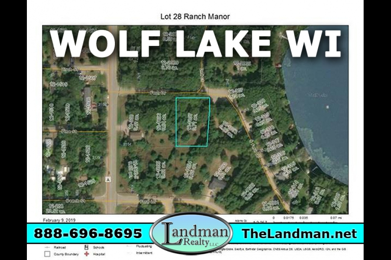 Deeded Access Wolf Lake Lot for Sale