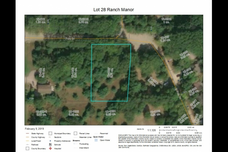 Ranch Manor Lot 28 aerial closeup