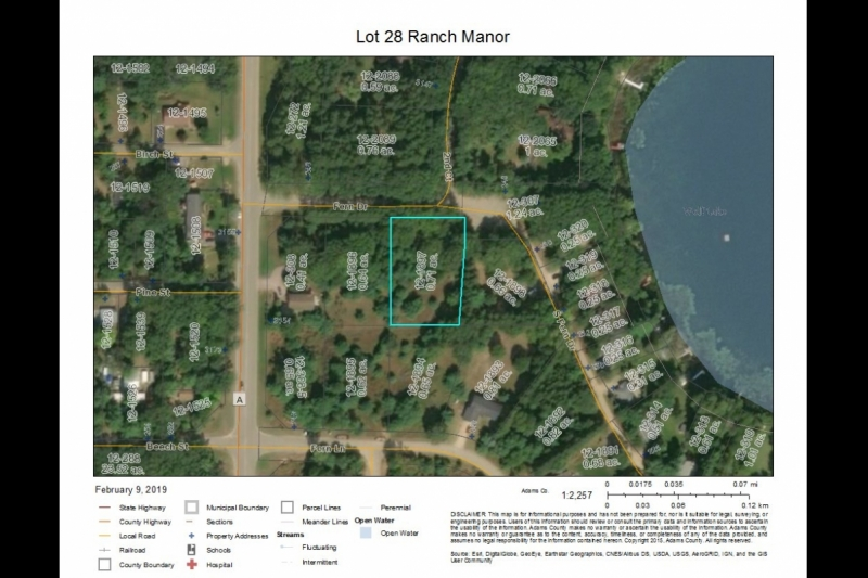 Ranch Manor Lot 28 aerial map