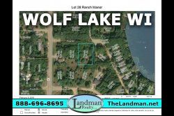 1851175, Almost 3/4 of an acre wooded Building site w/Wolf Lake access!
