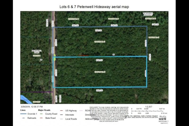 Lots 6 & 7 Petenwell Hideaway Aerial Map