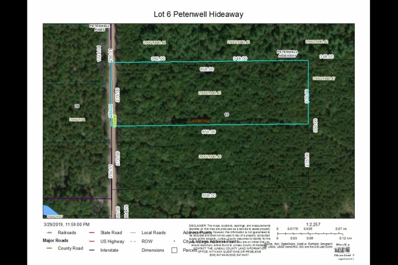 Lot 6 Petenwell Hideaway Aerial Map