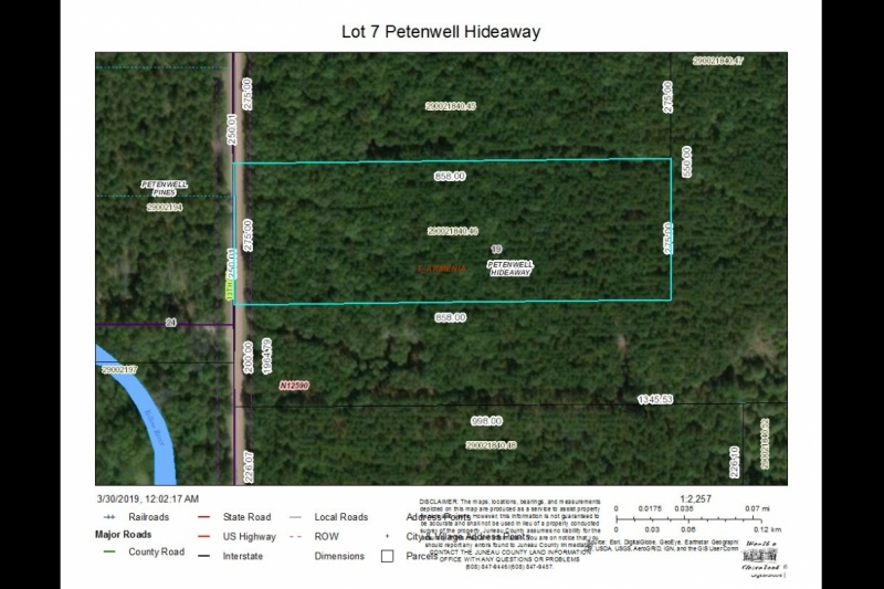 Lot 7 Petenwell Hideaway Aerial Map