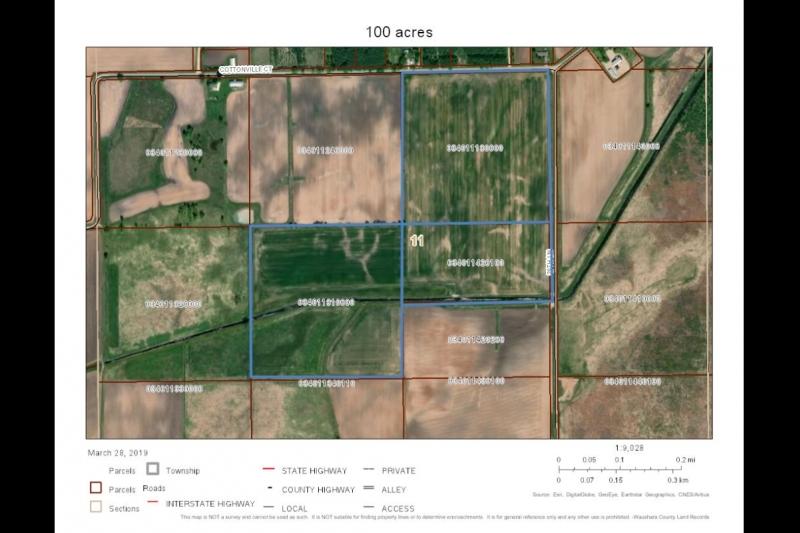 100 Acres Aerial Map