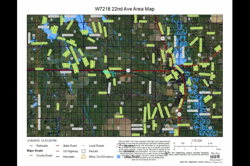 W7218 22nd Av Area Map