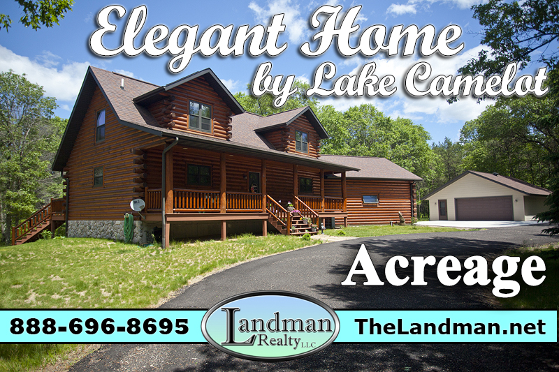 Log Home with Acreage near Tri-Lakes