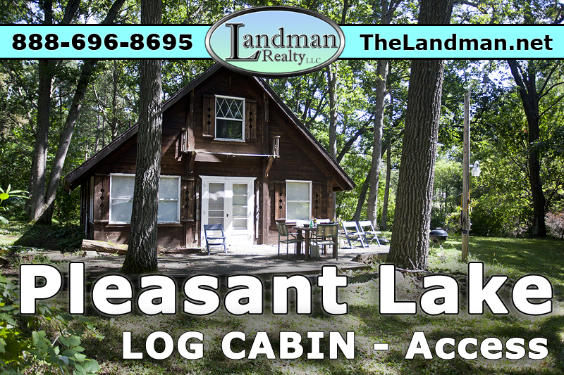 Wisconsin Square Cedar Log Cabin for Sale by Pleasant Lake WI