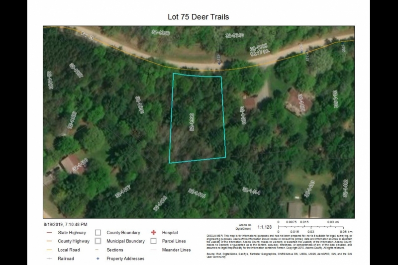 Lot 75 Deer Trails Aerial Map