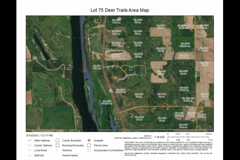 Lot 75 Deer Trails Area Map