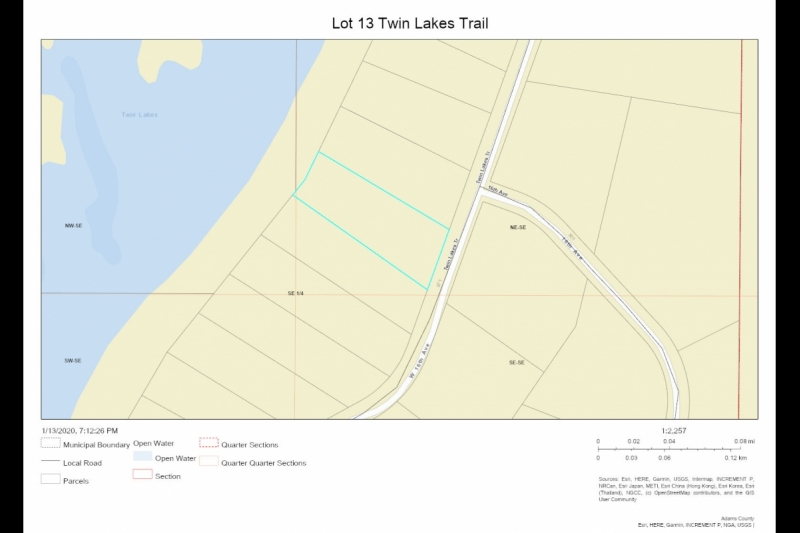 Parcel Map Lot 13 Twin Lks Tr