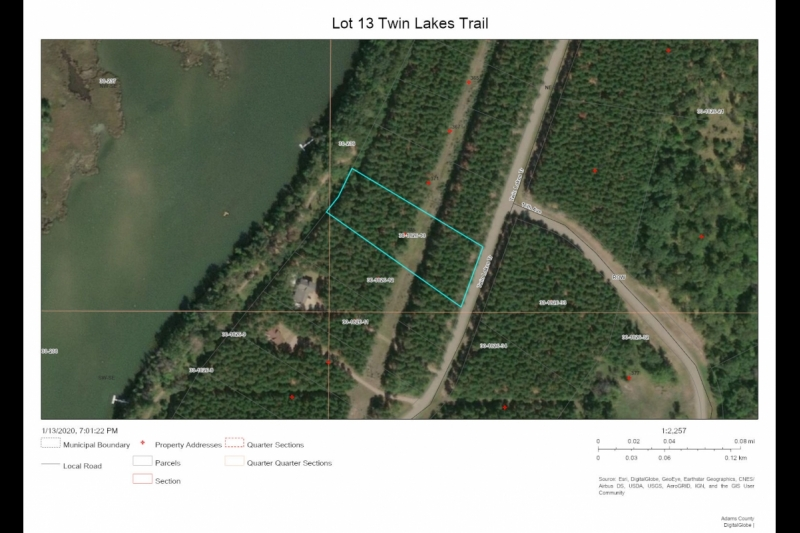 Aerial Map Lot 13 Twin Lks Tr
