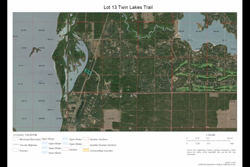 AREA Map Lot 13 Twin Lks Tr