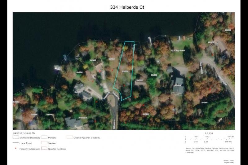 Aerial 334 Halberds Ct map
