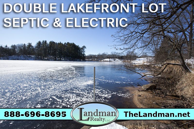 Neenah Lake WI Double Waterfront Lots for Sale