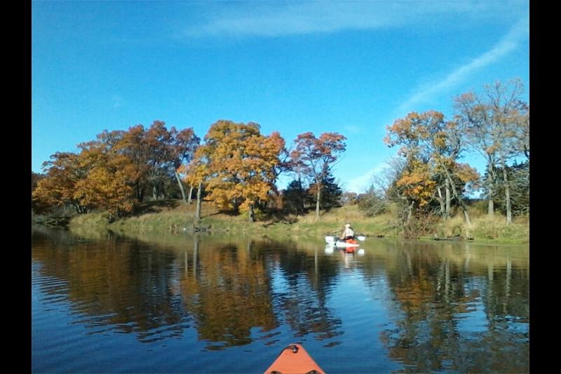 Neenah Lake Kayaking in Fall