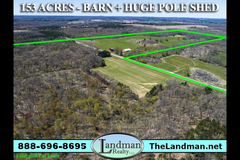 Wisconsin Farm Property for Sale - 153 Acres + Barn