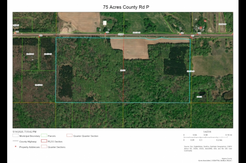 Aerial Map 75 Acres County Rd P
