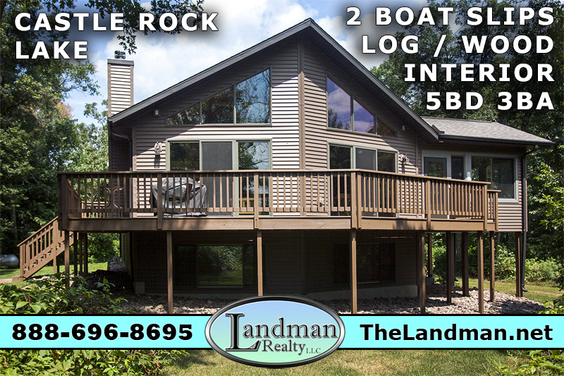 Custom Home for Sale with 2 Boat Slips on Castle Rock Lake