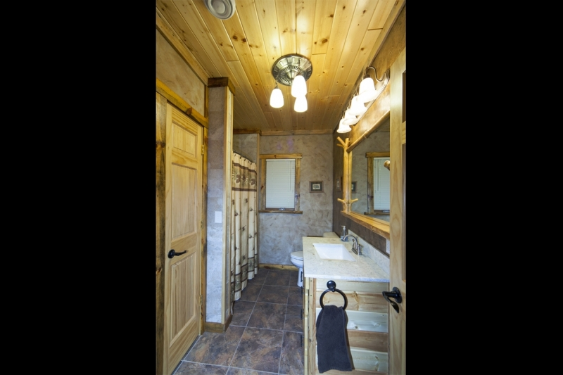 Wood / Log Bathroom