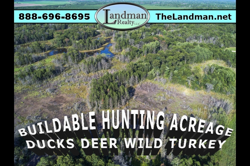 Buildable Hunting Acreage Duck Deer Wild Turkey WI